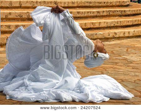 White Gown Dancer