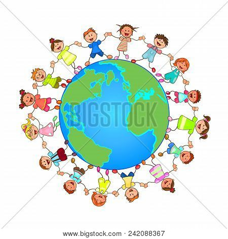Small Children Around The Globe