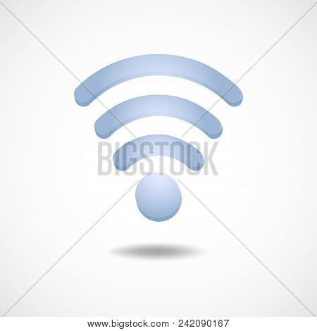 Gradient Icon Wi Fi Technology Elements Vector Illustration.