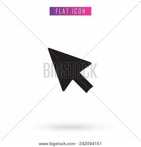 Mouse Click . Black. Flat Vector Icon