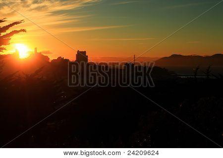 A bay sunset