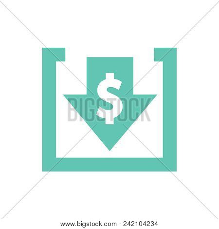 Cost Reduction Icon. Image Isolated On White Background. Vector Illustration. Costs Cut And Financia