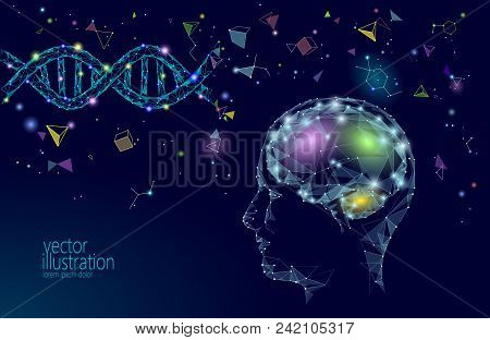 Human Brain Iq Smart Business Concept. E-learning Nootropic Drug Supplement Dna Medicine Neuroscienc
