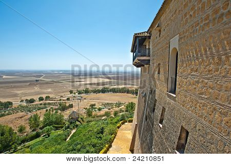 Parador in a Spanish landscape