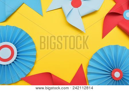 Weather Paper Decorative Vane Colorful Background. Circus, Childhood, Festival, Party, Fun Joy Happi