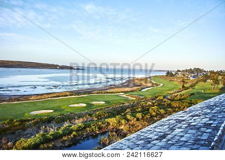 View Of Botrivier Lagoon Overlooking Golf Course Arabella And Mountains South-africa
