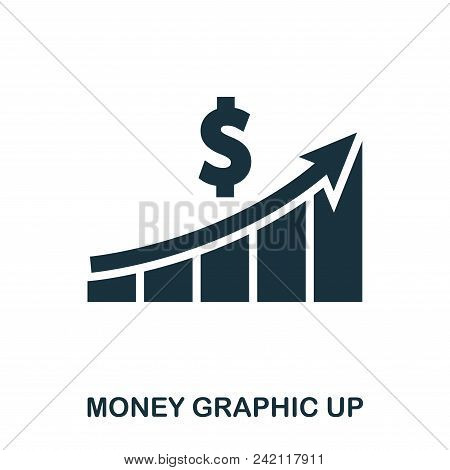 Money Graphic Up Icon. Flat Style Icon Design. Ui. Illustration Of Money Graphic Up Icon. Pictogram
