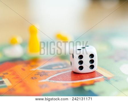 Board Games And Dice On The Field