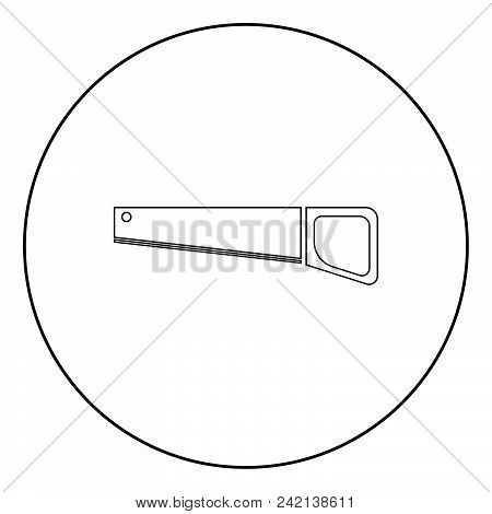 Handsaw  Icon Black Color In Circle Or Round Vector Illustration