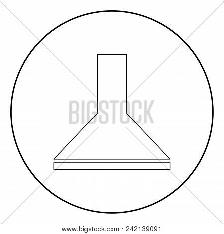 Exhaust Hood  Icon Black Color In Circle Or Round Vector Illustration