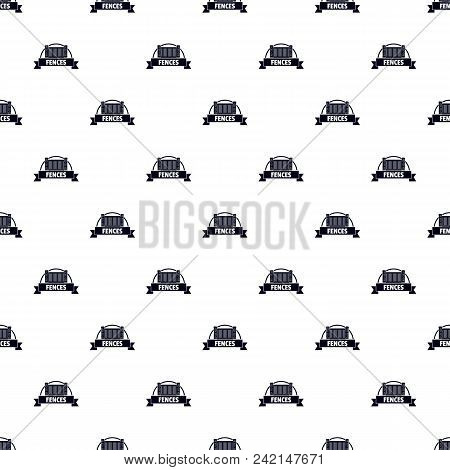 Fence Brick Pattern Vector Seamless Repeat For Any Web Design