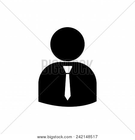 Business Person Vector Icon Flat Style Illustration For Web, Mobile, Logo, Application And Graphic D