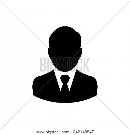 Businessman Vector Icon Flat Style Illustration For Web, Mobile, Logo, Application And Graphic Desig