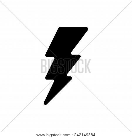 Electric Energy Vector Icon Flat Style Illustration For Web, Mobile, Logo, Application And Graphic D