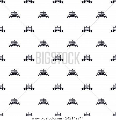Fence Village Pattern Vector Seamless Repeat For Any Web Design