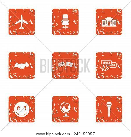 Agreement Icons Set. Grunge Set Of 9 Agreement Vector Icons For Web Isolated On White Background