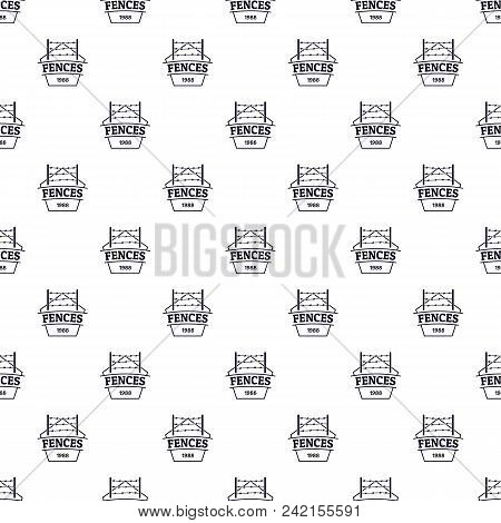 Fence Prison Pattern Vector Seamless Repeat For Any Web Design