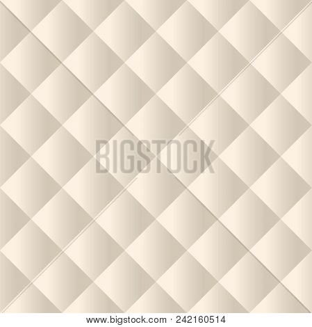 Seamless beige padded upholstery pattern background texture poster