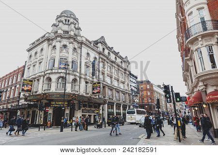 London, Uk - April 2018: The Gielgud Theatre (previously Hicks Theatre And Globe Theatre), A West En