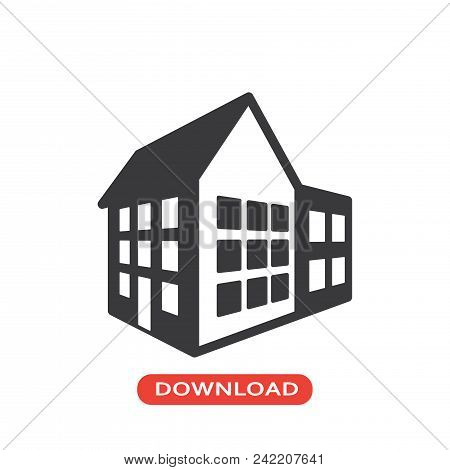 3d House Vector Icon Flat Style Illustration For Web, Mobile, Logo, Application And Graphic Design.