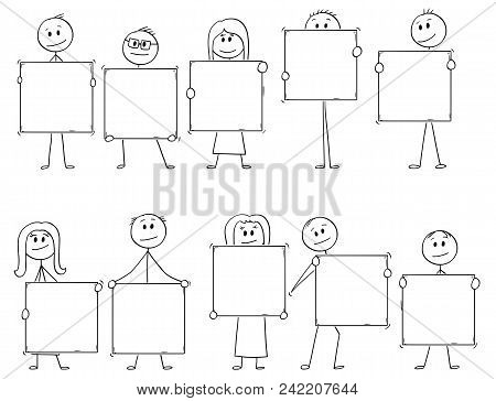 Cartoon Stick Man Drawing Conceptual Illustration Of Crowd Or Team Or Ten Businessmen And Businesswo
