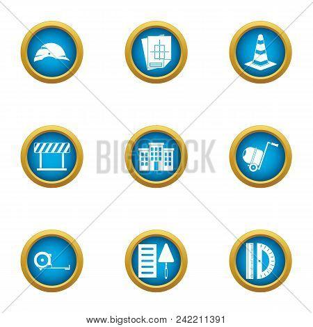 Remedial Maintenance Icons Set. Flat Set Of 9 Remedial Maintenance Vector Icons For Web Isolated On