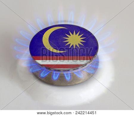 Gas Hob And Flag Of Malaysia, Gas Malaysia