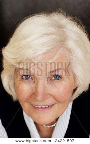 Senior lady portrait,looking up