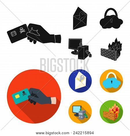 System, Internet, Connection, Code .hackers And Hacking Set Collection Icons In Black, Flat Style Ve