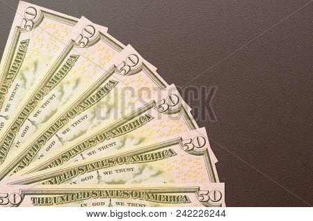 One Hundred And Fifty Dollar Bills, Spread Out In A Fan