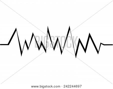 A Wonderful Simple Design Of A Cardiogram On A White Background
