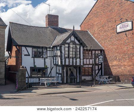 Oswestry, Shropshire, Uk - May 15, 2018: Exterior Of Black Gate Gastro Pub In Oswestry, Shropshire