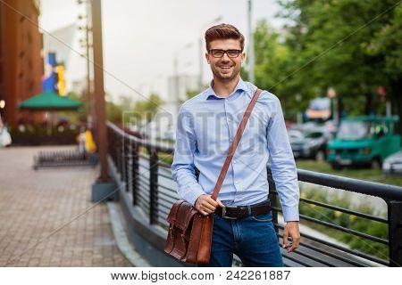 Smart Casual Man Outside