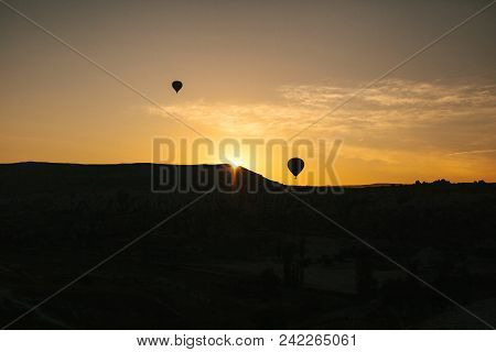 The Famous Tourist Attraction Of Cappadocia Is An Air Flight. Cappadocia Is Known All Over The World