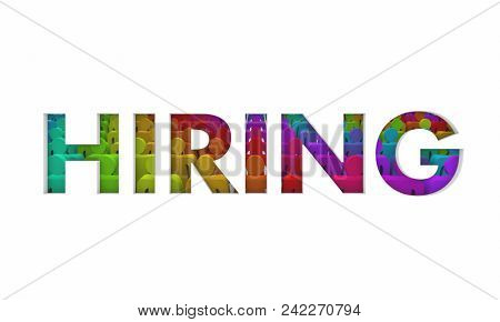 Hiring Staff People Workforce Hire Employees Word 3d Render Illustration