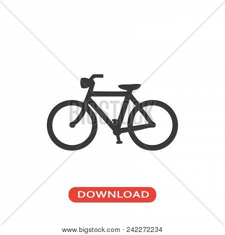 Bicycle Vector Icon Flat Style Illustration For Web, Mobile, Logo, Application And Graphic Design. B