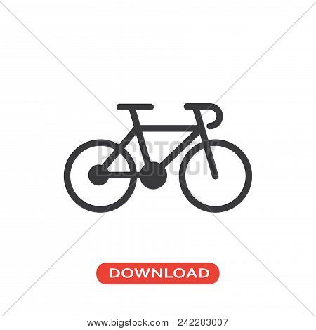 Bike Vector Icon Flat Style Illustration For Web, Mobile, Logo, Application And Graphic Design. Bike