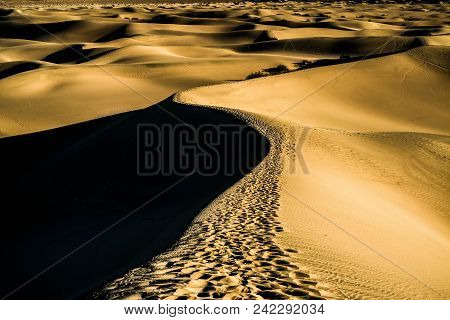 Wanderlust Abstract Of Mesquite Flats Sand Dunes, Death Valley National Park, California