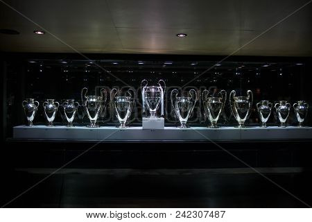 Champions League Cups In The Real Madrid Museum