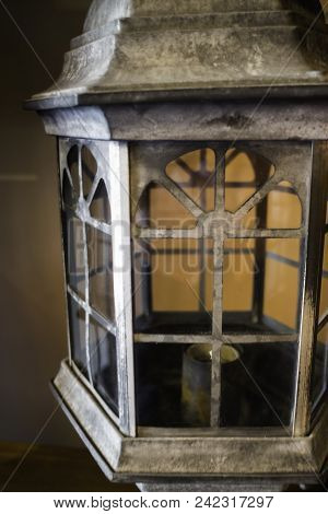Vintage Lantern With A Candle, Stock Photo
