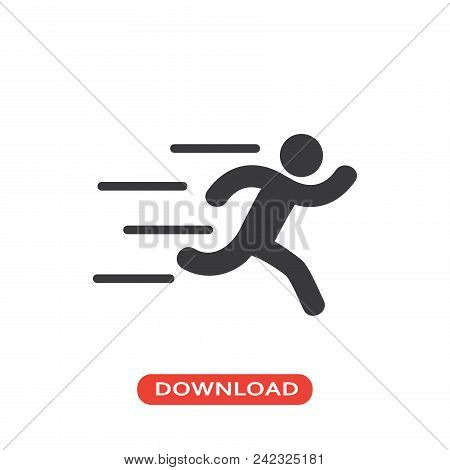 Runner Vector Icon Flat Style Illustration For Web, Mobile, Logo, Application And Graphic Design. Ru