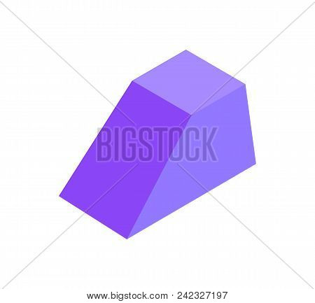 Combined Geometric Figure Prism, Colorful Banner, Vector Illustration With Lilac Figure That Have Va