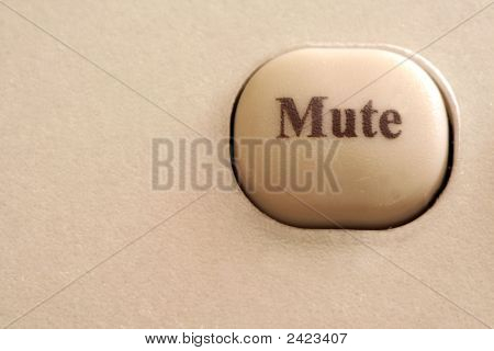 Close Up Of A Mute Button