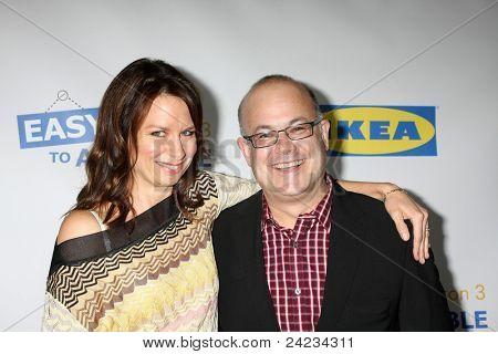 LOS ANGELES - OCT 10:  Mary Lynn Rajskub, Rob Barnett arriving at the Web-series