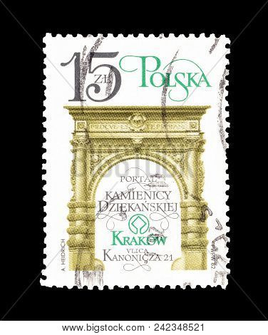 Poland - Circa 1982 : Cancelled Postage Stamp Printed By Poland, That Shows Deanery Portal.