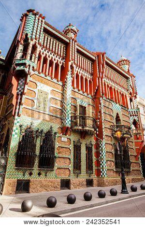 Barcelona - March, 2018: Casa Vicens In Barcelona, Spain