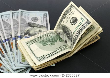 Old 100 Usa Dollars. Banknote Hundred Dollars And New Banknote Hundred Dollars