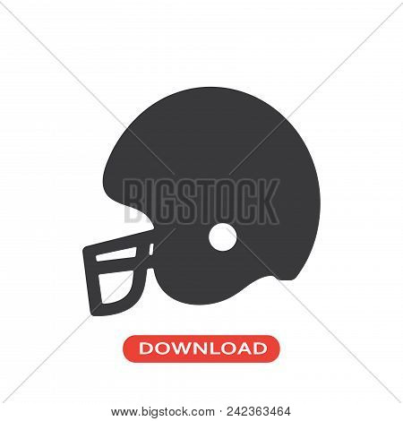 Football Helmet Vector Icon Flat Style Illustration For Web, Mobile, Logo, Application And Graphic D