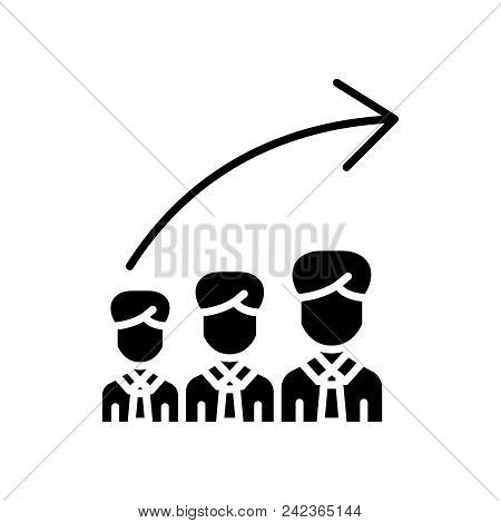 Career Progression Black Icon Concept. Career Progression Flat  Vector Website Sign, Symbol, Illustr
