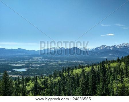 Hiking Views From Mount John Laurie Yamnuska Overlooking The Foothills And Prairies Of Alberta